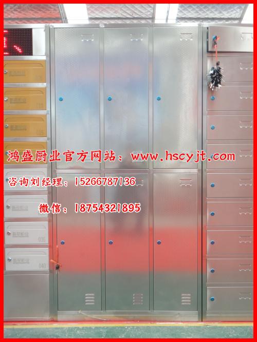 6格更衣柜,不锈钢304材质更衣柜定做,储物柜生产厂家